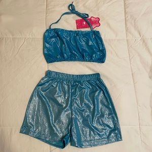 Shimmery Blue Swim Suit